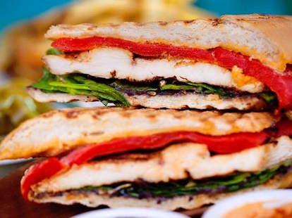 Cafe Habana sandwich lettuce chicken panini thrillist new york