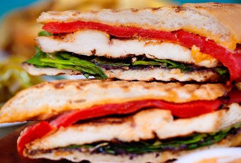 Cafe Habana sandwich lettuce chicken panini thrillist new york