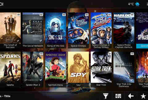 Kodi interface
