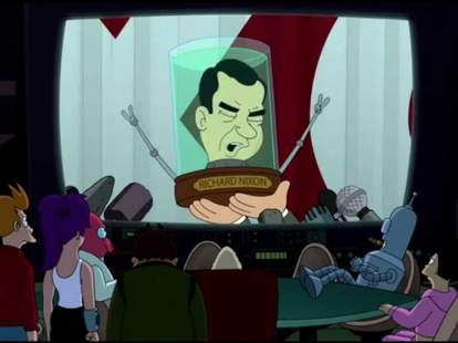 futurama richard nixon head