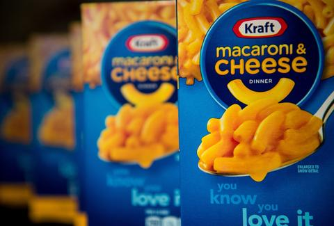 Kraft macaroni cheese box