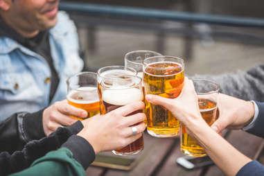 Cheers, pints of beer
