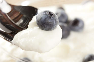 blueberries and greek yogurt