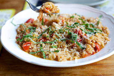 Farro with tomatoes