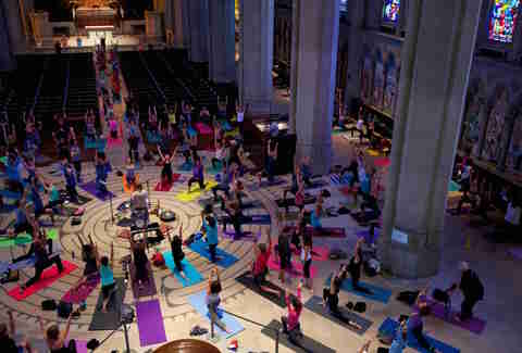 Grace Cathedral, San Francisco yoga