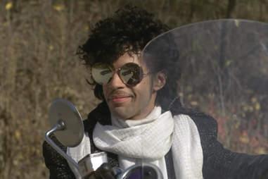 Prince Purple Rain motorcycle scene