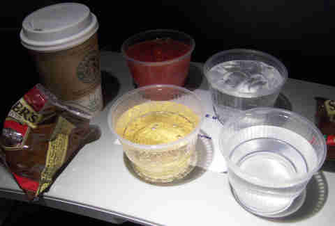Drinks on a plane