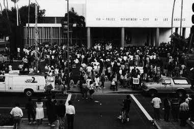 LA Riots 1992 Protesters LAPD