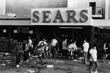 LA Riots 1992 Sears Looters