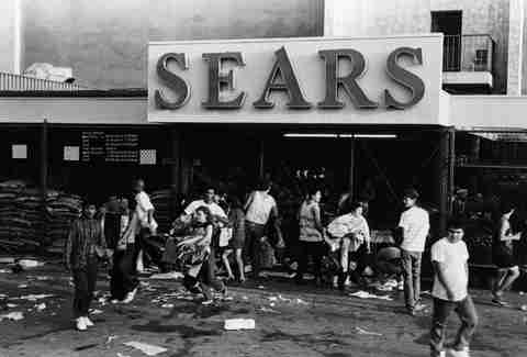LA Riots 1992 Sears Looters
