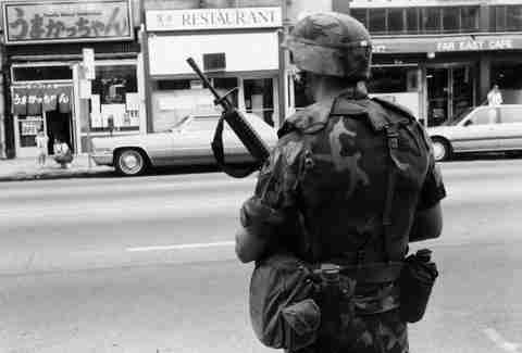 LA Riots 1992 National Guardsman