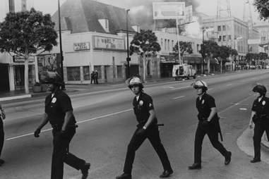 LA Riots 1992 Riot Police