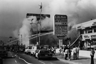 LA Riots 1992 Mini-mall Fire