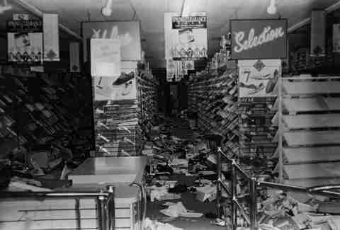 LA Riots 1992 Looted Store