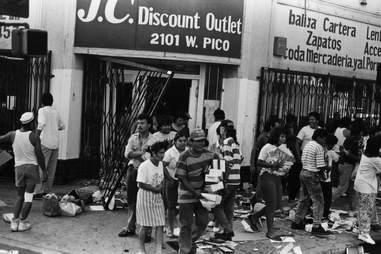 LA Riots 1992 Looting Pico