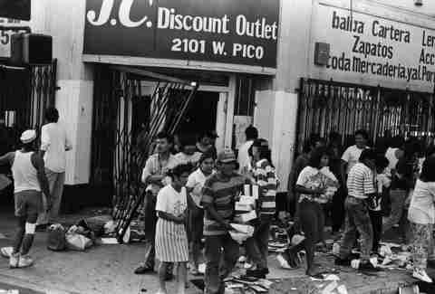 LA Riots 1992 Looting Pico