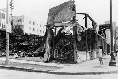 LA Riots 1992 Gutted Building