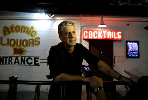 Anthony Bourdain Being Interviewed