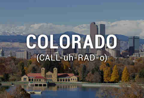 colorado pronounciation