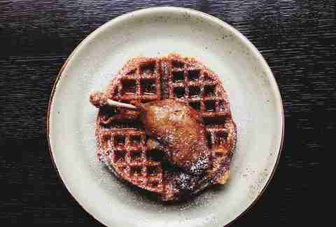 Duck Confit Waffles Brunch at the Cecil Harlem