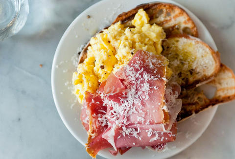 Buvette west village brunch eggs and prosciutto
