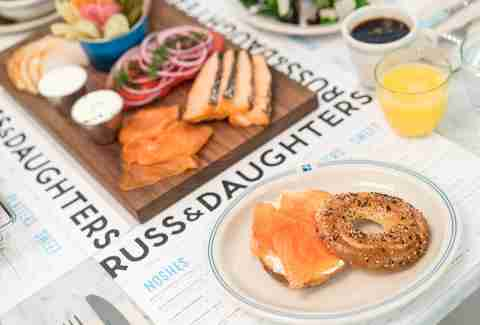 Russ & Daughters Cafe Bagel & Lox