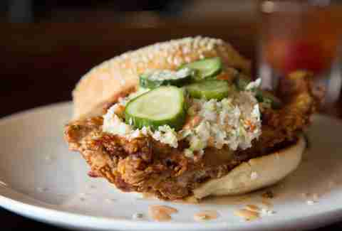 Fried Chicken Sandwich The Commodore