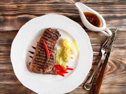 steak, steak dinner