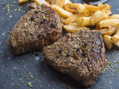 steak, fries, steak and fries