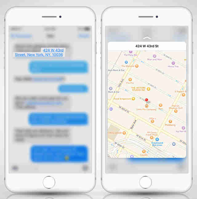 screenshots of 3d touch features on iPhone 6
