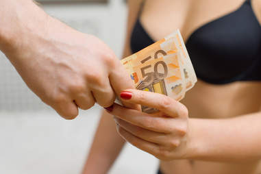 paying female prostitute