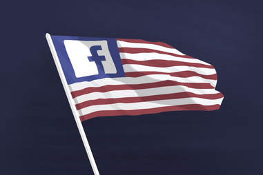 Facebook and the American flag