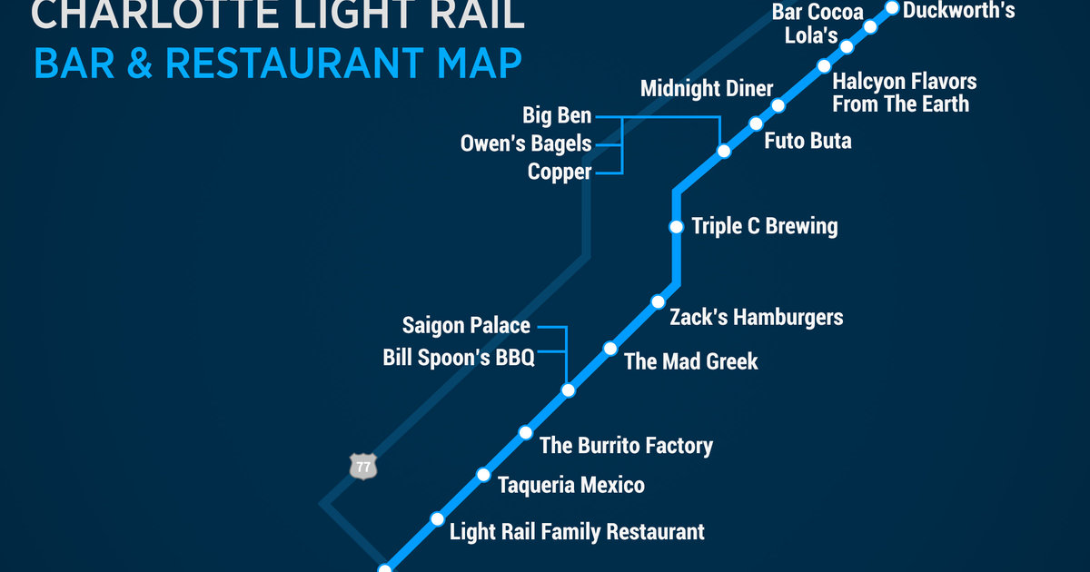 Bars And Restaurants Along Charlotte S Blue Line Light Rail Thrillist