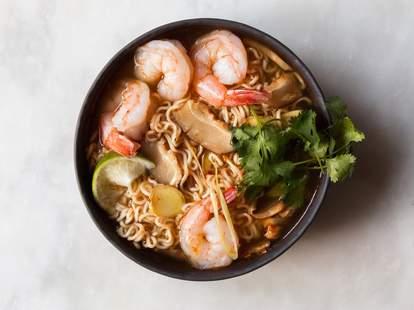 shrimp and ramen soup