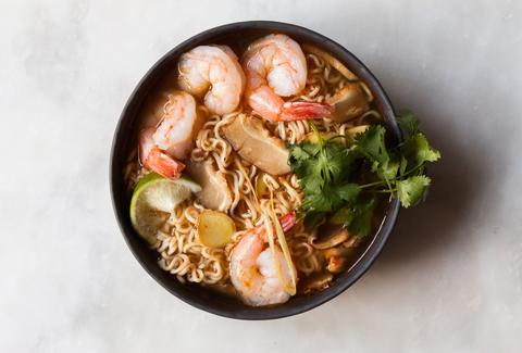 shrimp and ramen soup
