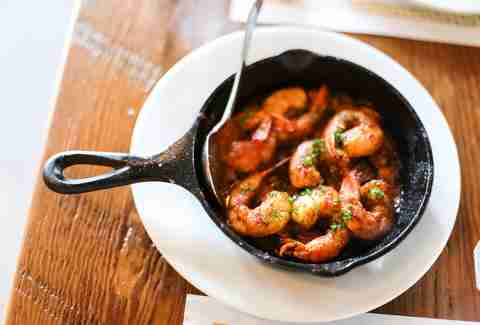 shrimp in cast iron skillet