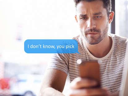 man receiving text