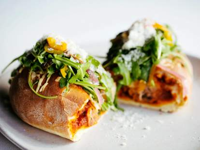 The Pass and Provisions meatball sandwich