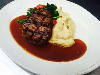 steak at Jim Brady's Detroit
