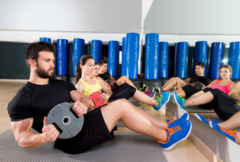 abdominal plate training, group workout