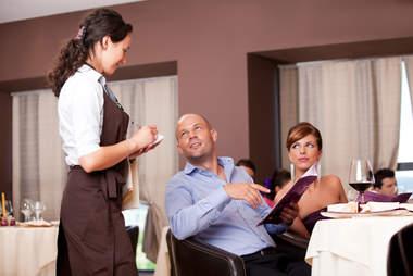 waitress taking order