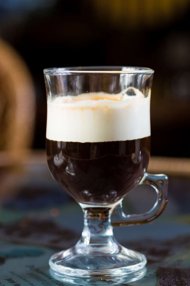 Irish Coffee: Coffee-Whiskey-Cream