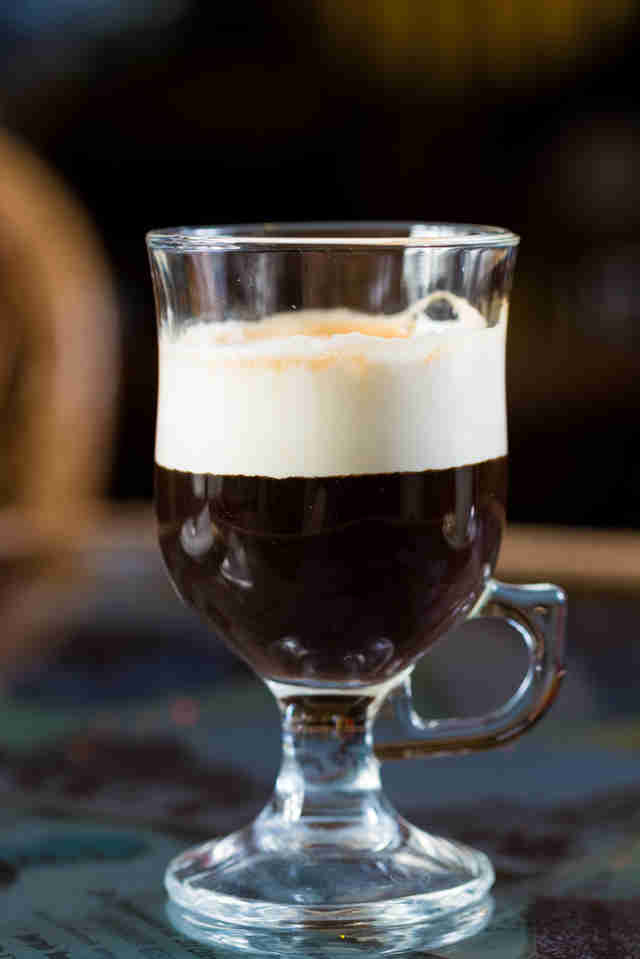 Irish Coffee: Coffee-Whiskey-Cream