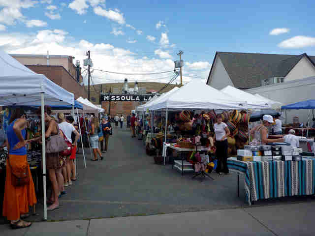 Farmers market in Missoula, MT