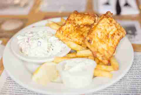 fried cod fish and chips