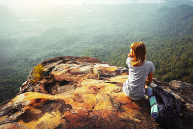 hiking travel girl