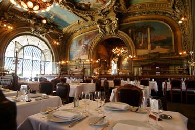 fancy meal in paris