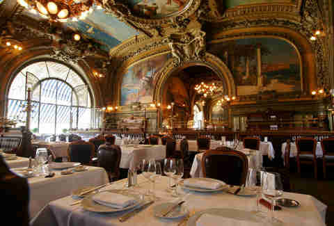fancy meal in paris