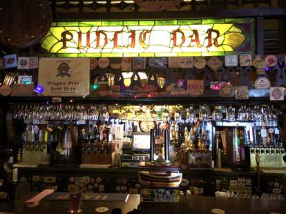 Interior of Bar at Horse Brass