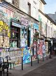 Flea Market graffitied wall and street thrillist